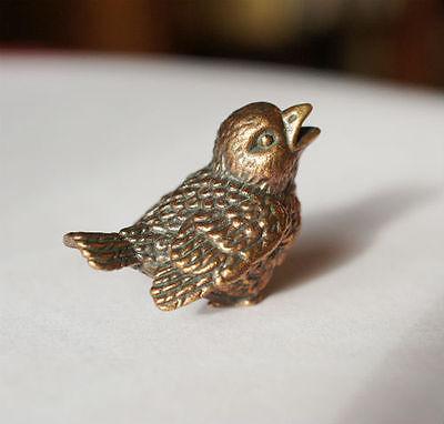 Tiny Solid Bronze Bird by N.Fedosov.