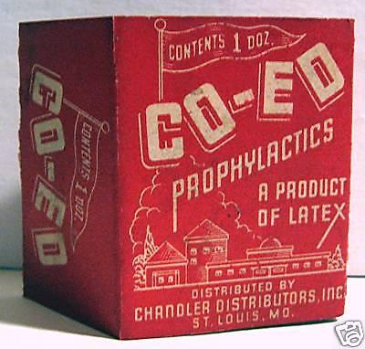 Co Ed Condom Pack Sleeve Chandler Dist St Louis Mo