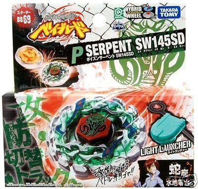 Beyblade TAKARA TOMY JAPAN METAL FUSION BB-69 Poison Serpent SW145SD+LAUNCHER