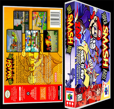 Super Smash Bros - N64 Reproduction Art Case/Box No Game.