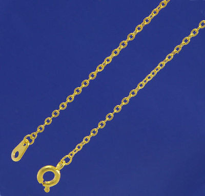 """A pack of 10 x 18"""" Gold Plated Very Fine Trace chains. 1.5mm wide     W2049g"""