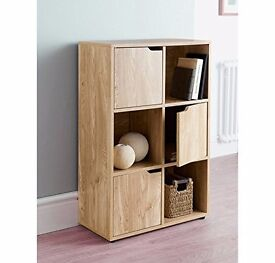New Oak Effect 6 Cube Storage Unit Shelving Unit Bookcase Cube Storage