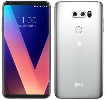 Débloqué Téléphone LG V30 H931 64GB 3G/4G LTE GSM AT&T WIFI Aurora - Argenté