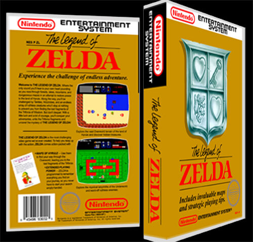 Legend of Zelda  - NES Reproduction Art Case/Box No Game.