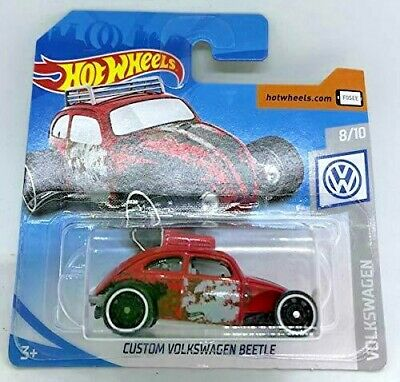 Hot Wheels Custom Volkswagen Beetle RED VW Bug 69/250 2019 new on short card