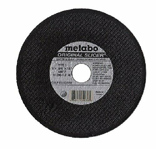 Metabo 655339000 Original Slicer Cutoff Wheel Type 1 - 6 x .04 x 7/8 - 50/PK