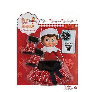 PERFECT PARTY SET Boots & Red & Black Skirt Elf on the Shelf Clothes Girl Doll (Black Elf Boots)