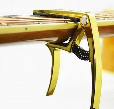 Alice A007K Pro Guitar Capo Acoustic Electric Metal Trigger Quick Release Gold