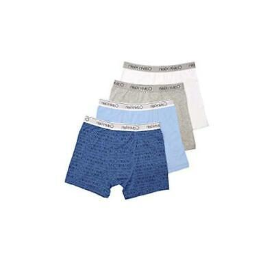 Calvin Klein Boys' Modern Cotton Assorted Boxer Briefs, Blue, Size 4.0 xFDK