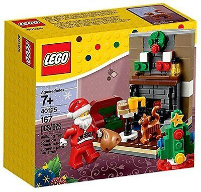 Lego Holiday Santas Visit Set   40125 Living Room Santa Stocking Same Day Ship
