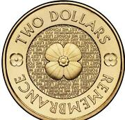 2012 Remembrance $2 Coin
