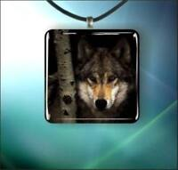 *BRAND NEW* WOLF GLASS PENDANT NECKLACE