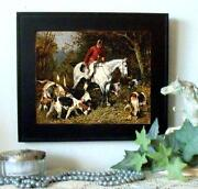 Antique Horse Print Frame