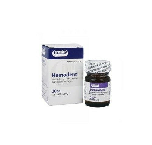 Premier Hemodent Topical Hemostatic Solution Liquid 20cc Bottle MFG#: 9007072