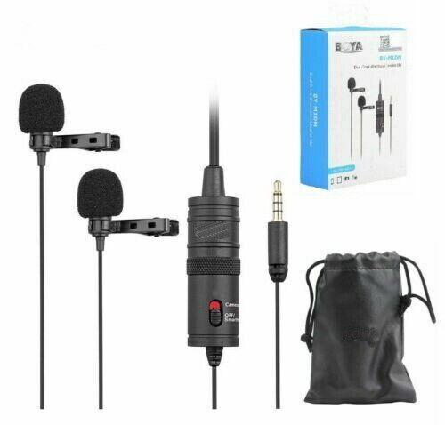 BOYA BY-M1DM 3.5mm Omnidirectional Lavalier Microphone for Canon Nikon Sony DSLR
