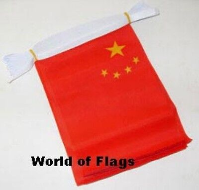 CHINA BUNTING Chinese 9m 30 Polyester Fabric Party Flags Asia Asian Flag