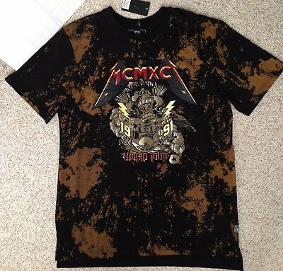 $30 SOUTHPOLE MCMXCI T-SHIRT Black/Tan Retro Rock-n-Roll Concert Tour Theme (XL)