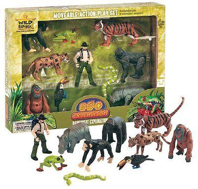 Wild Republic Rainforest Animals Figures Set Animal Kids Eco Nature Zoo Toys Toy