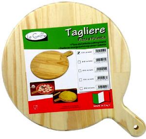 Tagliere in legno tondo per polenta da 35cm formaggio - Ghigliottina affetta salame ...