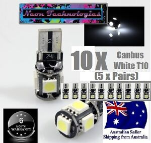 10 x CANBUS WHITE T10 Wedge SMD Parker Number Plate LED Bulb W5W T10 194 168 131