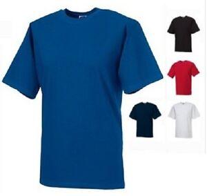 Russell-Jerzees-215M-Plain-Heavy-Thick-Cotton-Tee-T-Shirt-T-Shirt-No-Logo