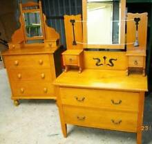"2x Antique Huon Pine ""Duchess"" Dressing Tables Rostrevor Campbelltown Area Preview"