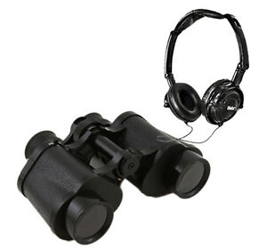 Vivitar-Look-Listen-8x-Zoom-30mm-Binoculars-w-Built-in-Microphone-Headphone