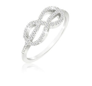 1-10-Carat-Diamond-Sterling-Silver-Infinity-Knot-Ring
