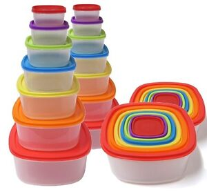 2-Pack-Imperial-14-Piece-Always-Fresh-Stackable-Containers-Set-Fiesta-Edition