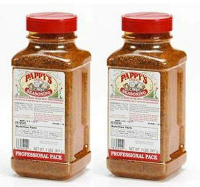 2 Bottles of Pappy's Choice Seasoning 4 LB of BBQ RUB Smoker Spice Ribs Pappys
