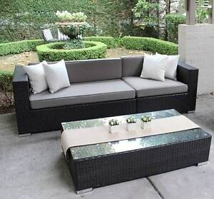 WICKER LOUNGE SETTING, EUROPEAN STYLING,3 SEATER,B/NEW Rocklea Brisbane South West Preview