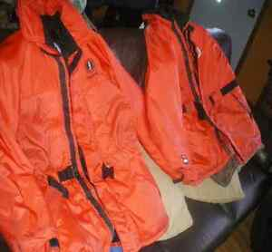 2 Mustang floatation/anti hypothermia coats