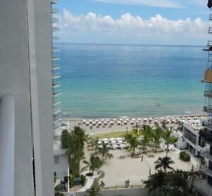 Beach front condo 16th floor Hollywood 2 weeks in january
