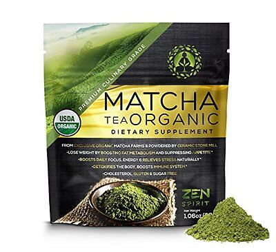 Matcha Green Tea Powder Usda Organicperfect For Baking Smoothies Lat Te Iced Tea