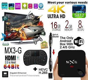 Newest Android TV Box MX3 G fully loaded with KODI & Remote