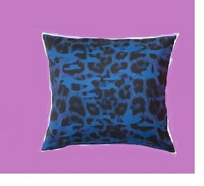 "IKEA Giltig Pillow Cover Blue Purple Black Leopard Animal Print 26""Ltd Ed Retire"