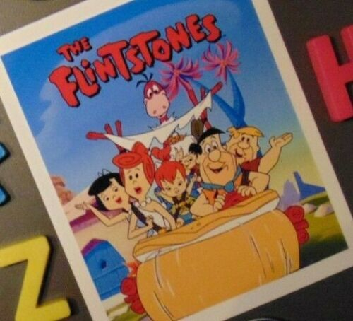 FLINTSTONES Fridge MAGNET Gift 1960s TV Show Cartoon FRED Home Kitchen Apartment