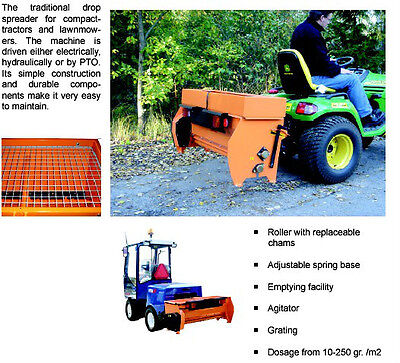 Hydromann 120EL electric drop salt and sand spreader