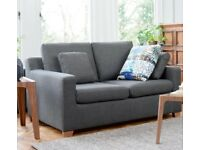 SOLD - Dwell 2 seater Sofa bed for sale with a storage foot stool - Hardly used
