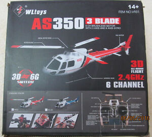 Scale AS350 six channel helicopter