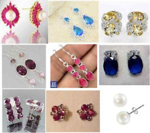 9 pairs -   GEMSTONE Earrings - NEW