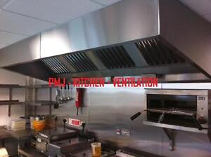 **Package** Commercial Kitchen Extraction Canopy/Hood 8ft Filters,Fan,Ducting