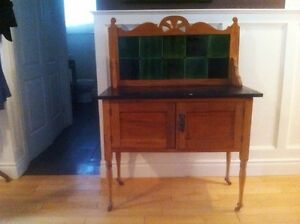 Antique English Marbletop Vanity Washstand - Over 130 years old!