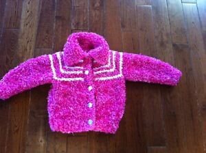 Girls Toddler Size 3T/4T - Soft Pink Hand Knit Sweater