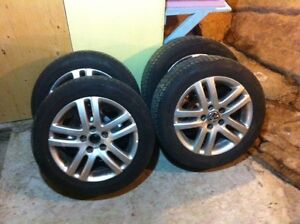 Continental Pure Contact tires on alloy rims