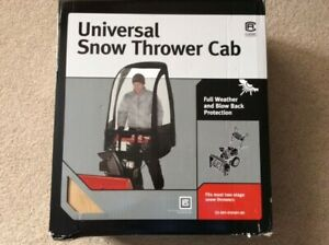 Snowblower Wind Cab To Shield From The Weather