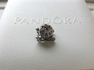Authentic Pandora Sterling Charm Beads S925 Disney Cinderella Pumpkin Carriage