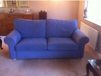 SCS Sofa bed in purple for sale.