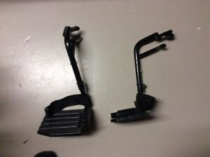 Pair of Standard Swing Away Foot Plates for a Wheelchair
