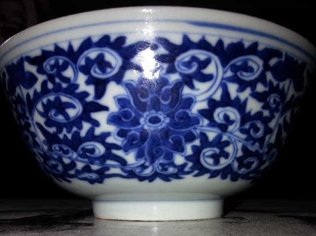 Antique Qing Dynasty Porcelain Bowl